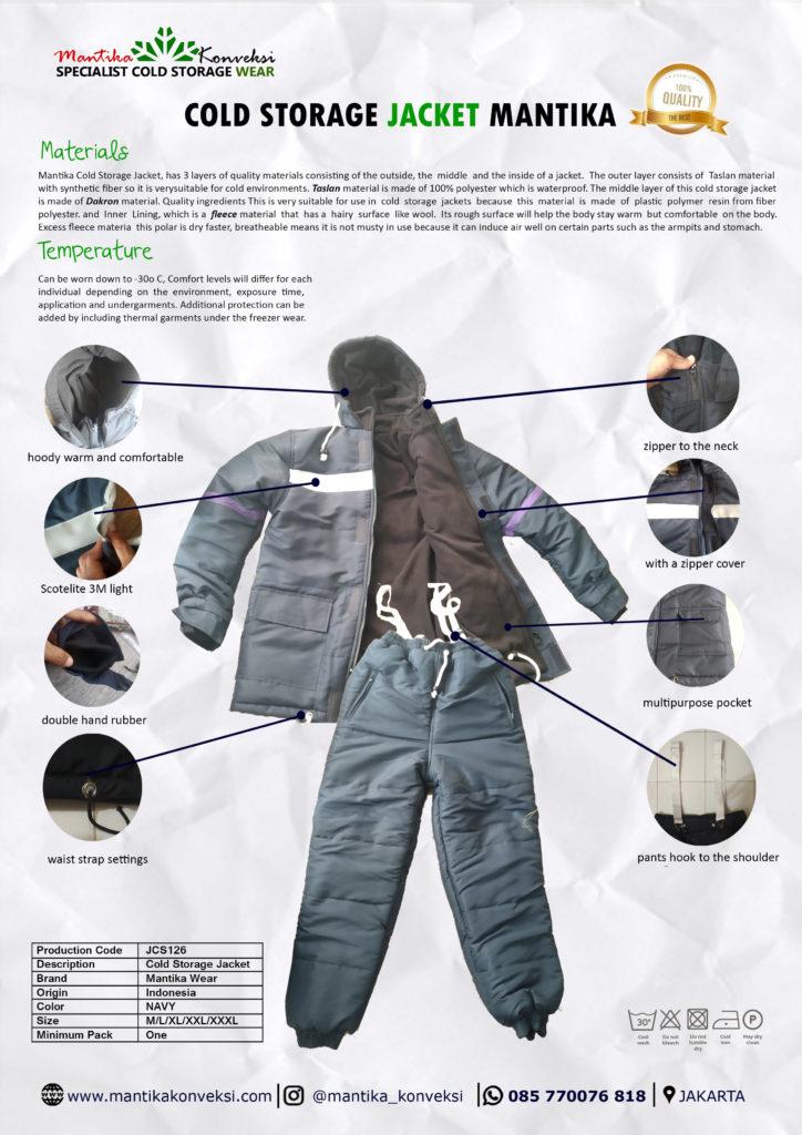jaket cold storage kualitas premium